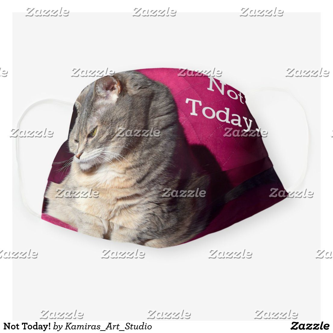 Not Today Cloth Face Mask Zazzle Com In 2020 Cat Lovers Grumpy Cat Pets