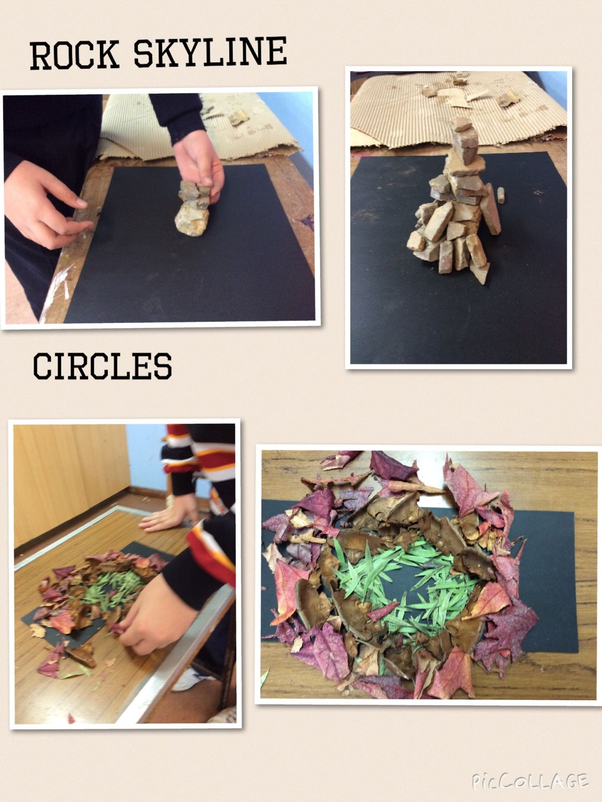 Rock sculpture by year 7 student Cezar.