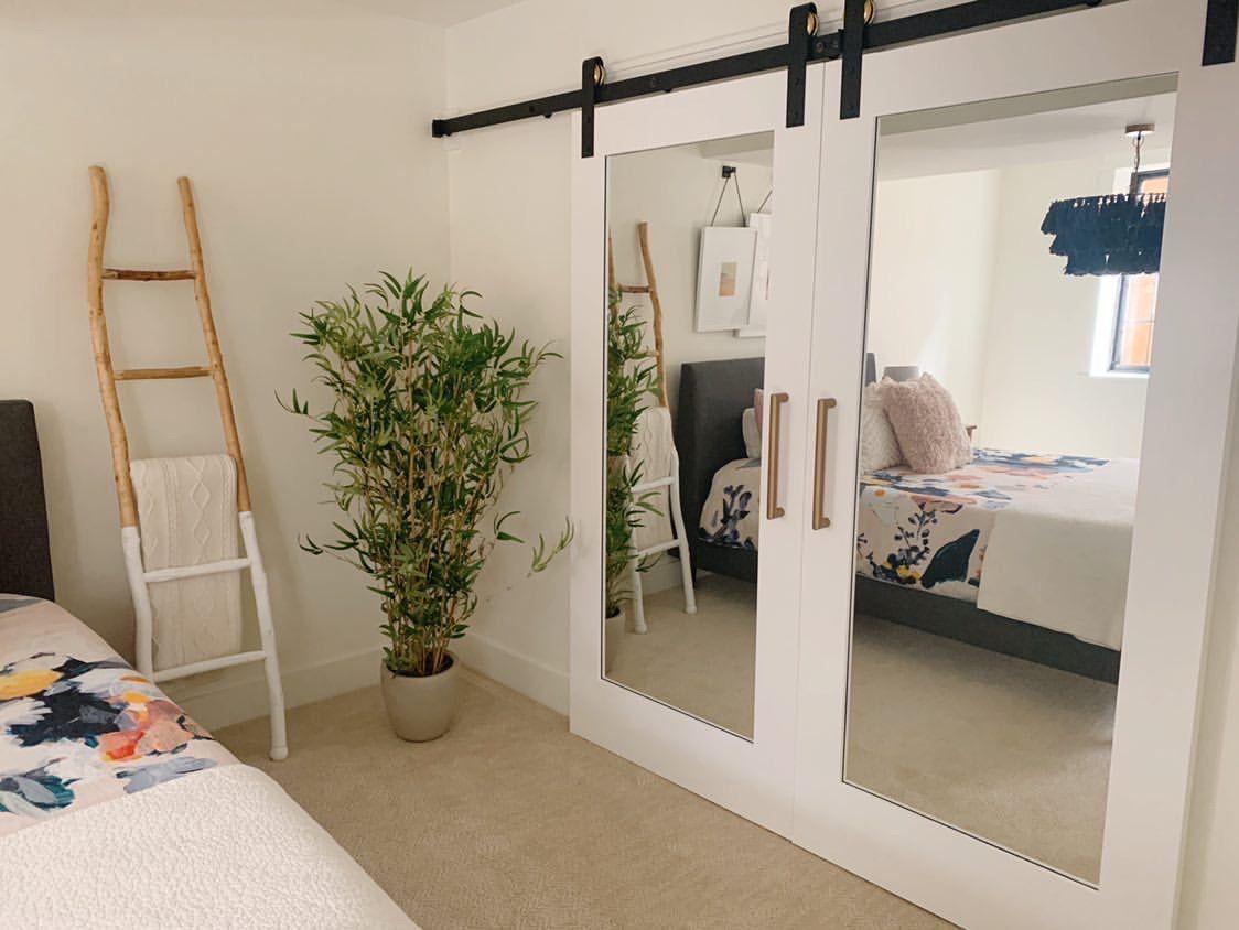 Double Mirror Barn Doors In 2020 Mirror Barn Door Boys Bedroom Makeover Sliding Mirror Closet Doors