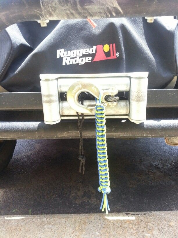 Paracord pull strap for my winch  | Paracord | Paracord, Suitcase