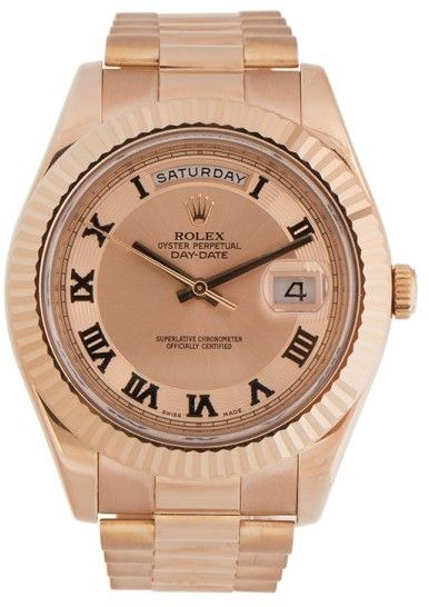 Rolex Day-Date II President 218235 CHCRP Rose Gold 41mm Watch