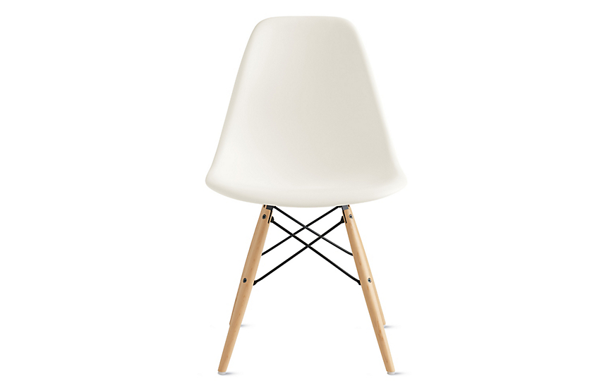 Eames Molded Plastic Dowel Leg Side Chair Dsw White Eames Chair Eames Wicker Dining Chairs