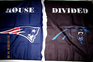 New England Patriots Carolina Panthers House Divided 3x5 Feet Flag Banner Nfl Carolina Panthers New England Patriots House Divided