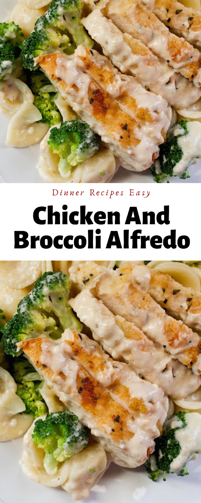 Dinner Recipes Easy | Chicken And Broccoli Alfredo #chickenbreastrecipeseasy