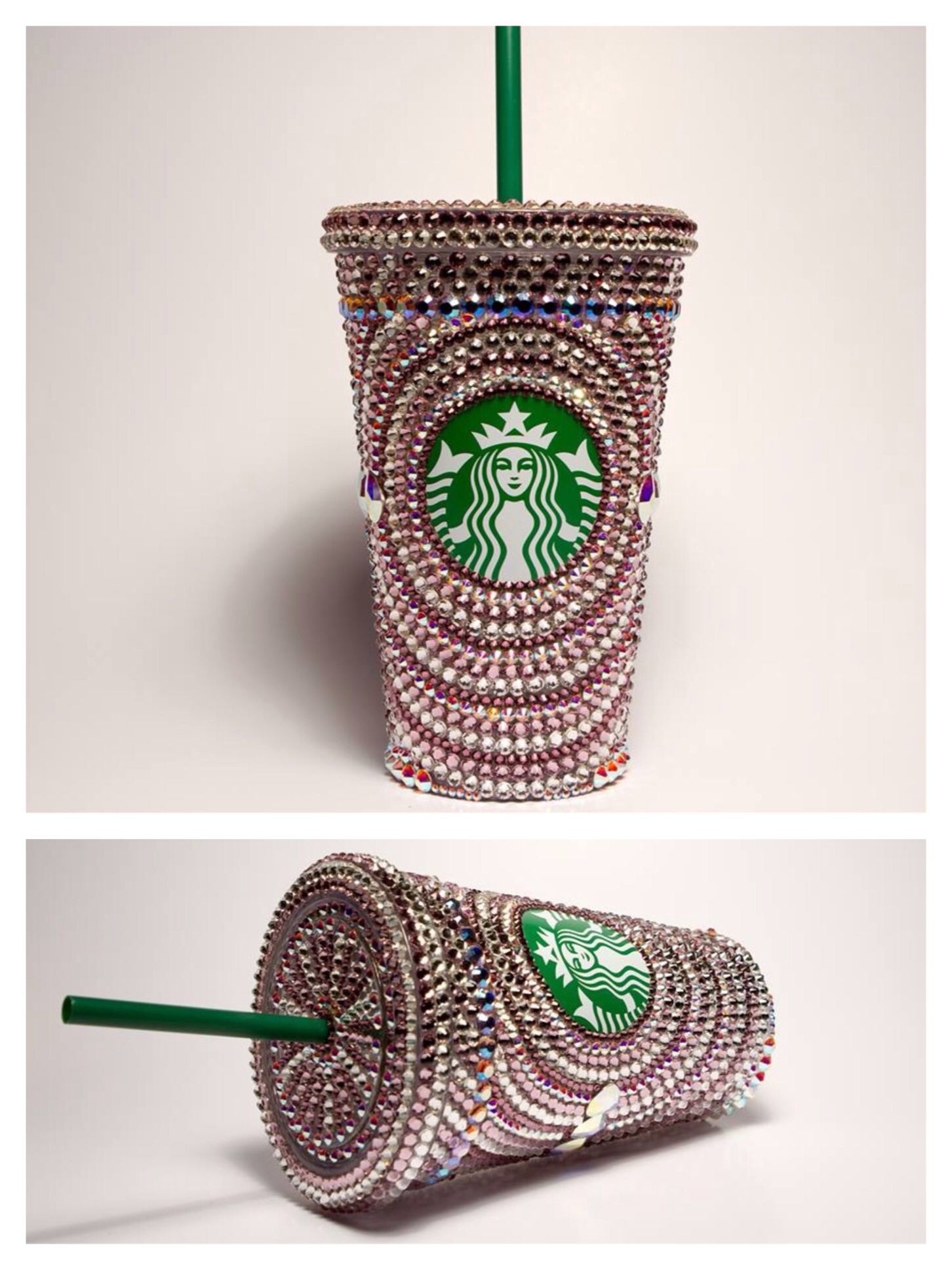Swarovski Starbucks Cup 16oz Custom Made For Sale Hand Made With Over 2000 Crystals Starbucks Cups Cups And Mugs Starbucks Coffee
