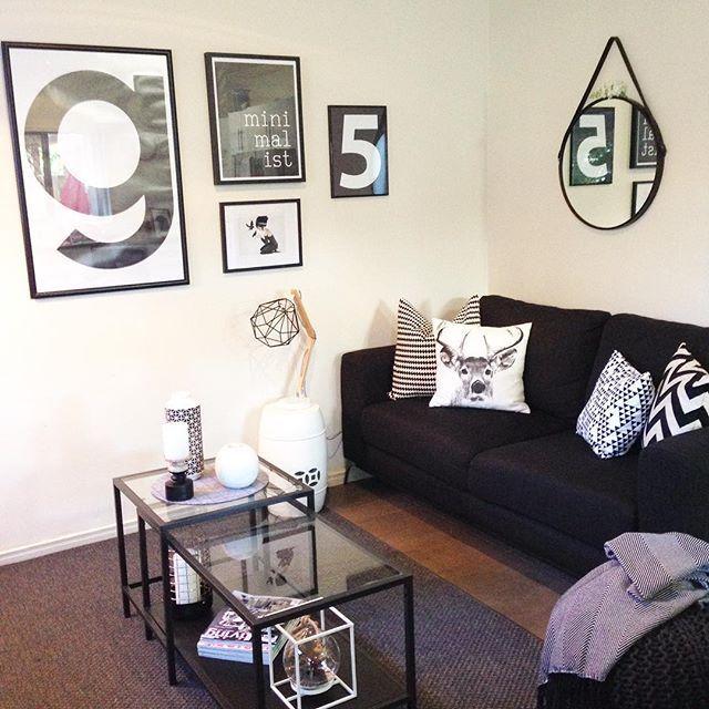 Ikea Vittsj nesting tables in back white living room For
