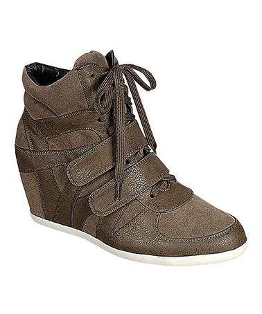 de0141cd300 This Khaki Beata Wedge Sneaker is perfect!  zulilyfinds