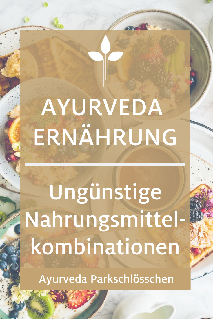 Nahrung ist Medizin und laut Ayurveda ist die richtige Kombination von verschiedenen Nahrungsmitteln ausschlaggebend für eine gesunde Verdauung. Denn bestimmte Nahrungsmittel lassen zusammen verzehrt Ama entstehen. Welche das sind, haben wir hier für Sie zusammengefast. Die Kombination von kalten und warmen Speisen z.B. wirkt sich sehr negativ auf unseren Darm aus - mehr dazu in unserem Ayurveda Blog. #ayurveda #healthyliving
