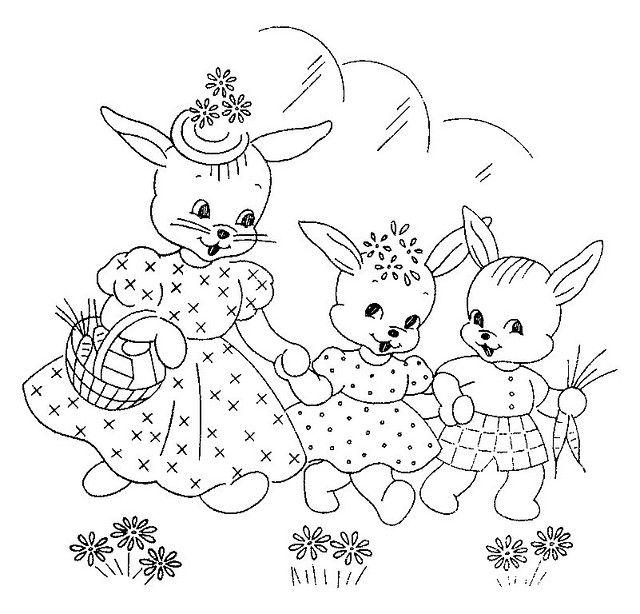 sweet bunny family