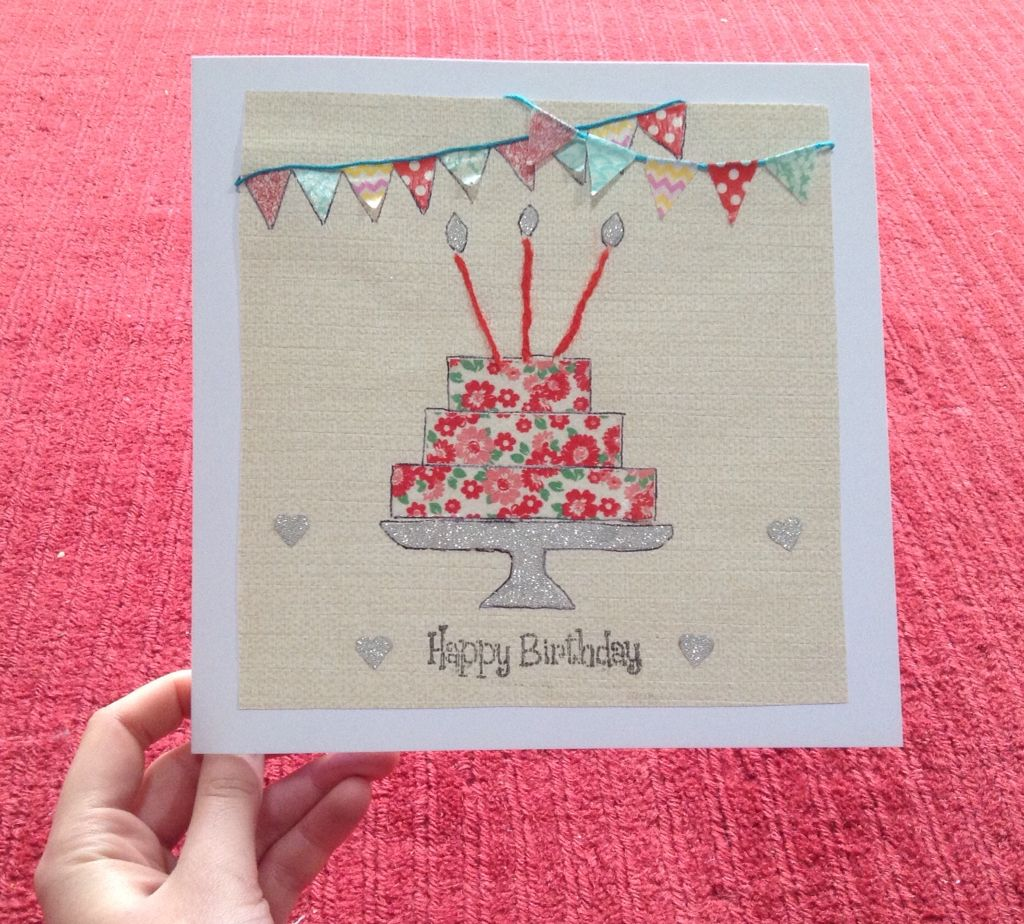 Handmade bunting and cake birthday card ☺️