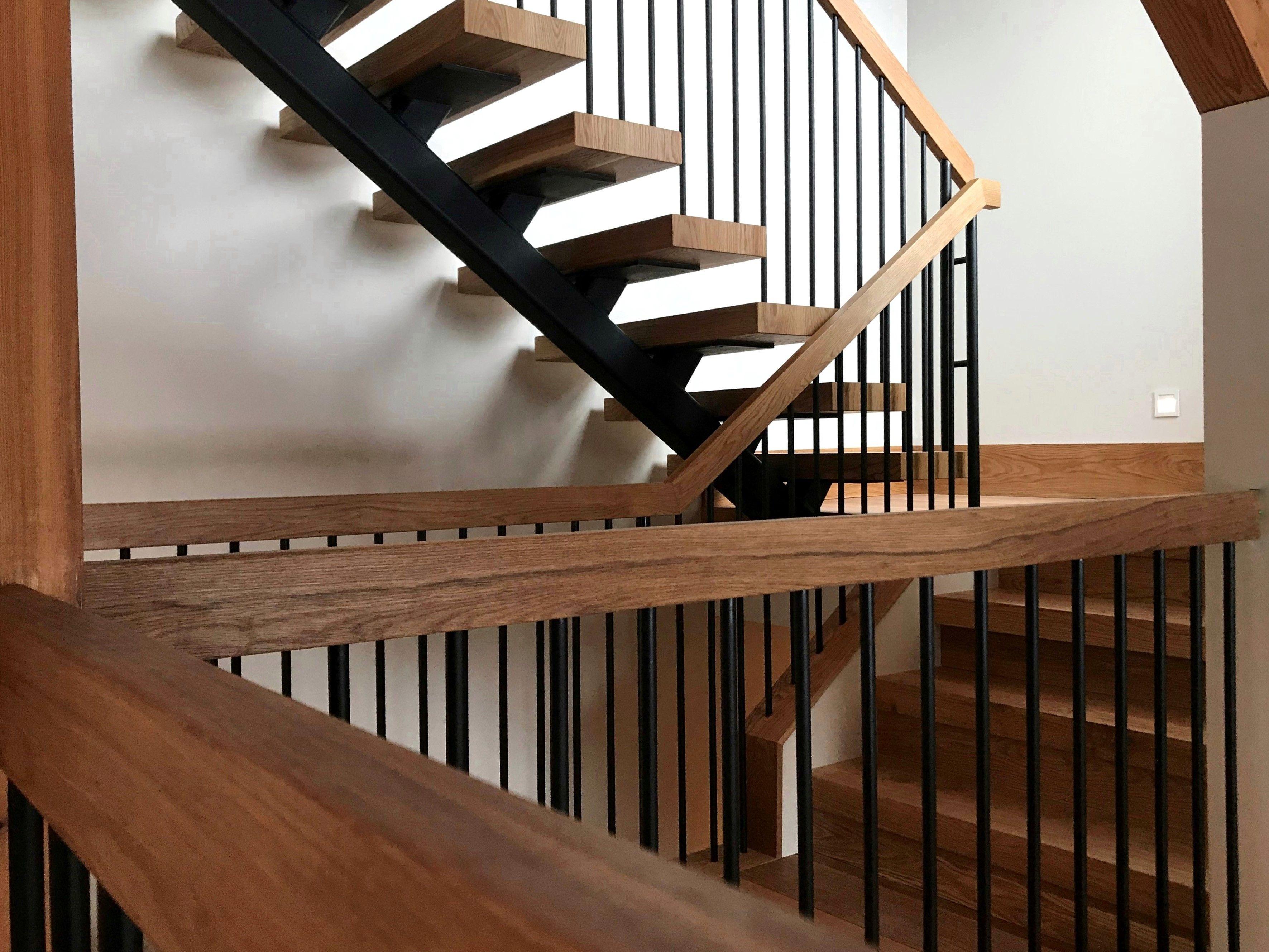 Best Custom White Oak Treads Railings And Risers White Oak 400 x 300