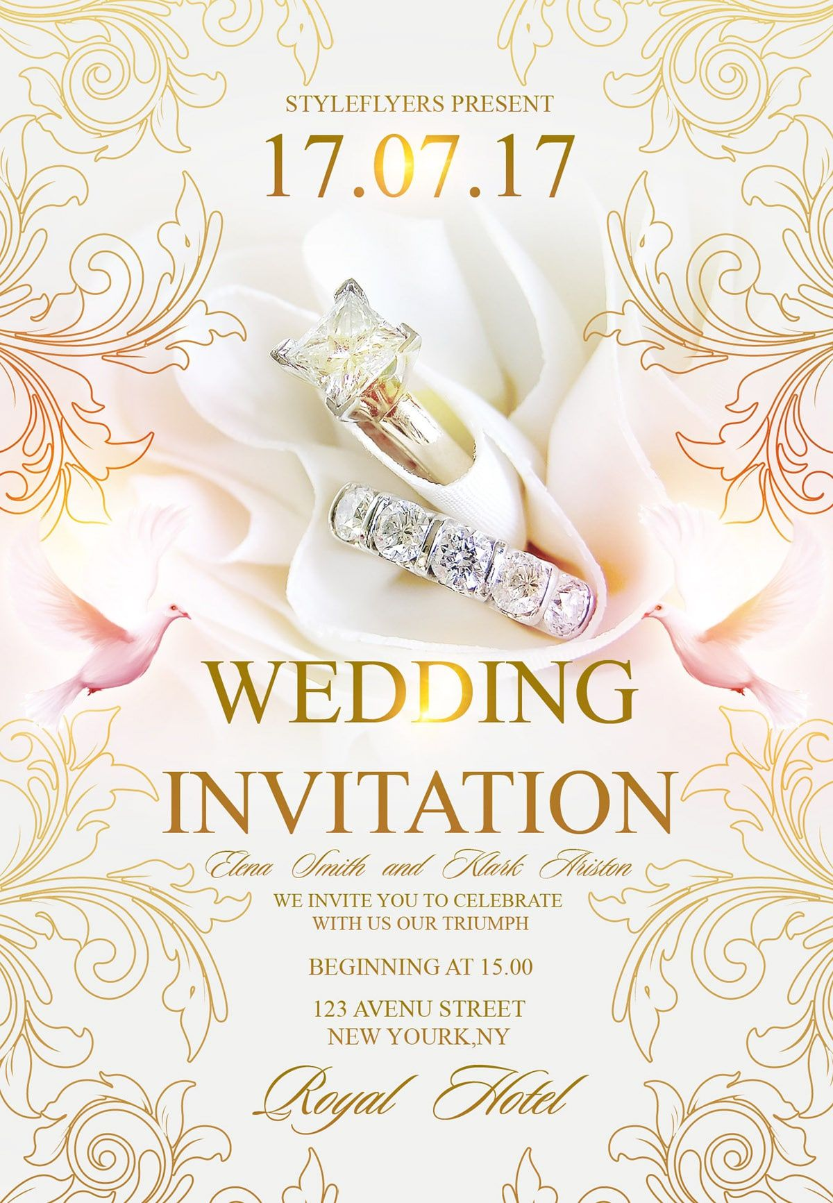 Wedding Invitation Download Free Psd Template Pixelsdesign Net Wedding Invitation Templates Free Wedding Invitations Wedding Invitations