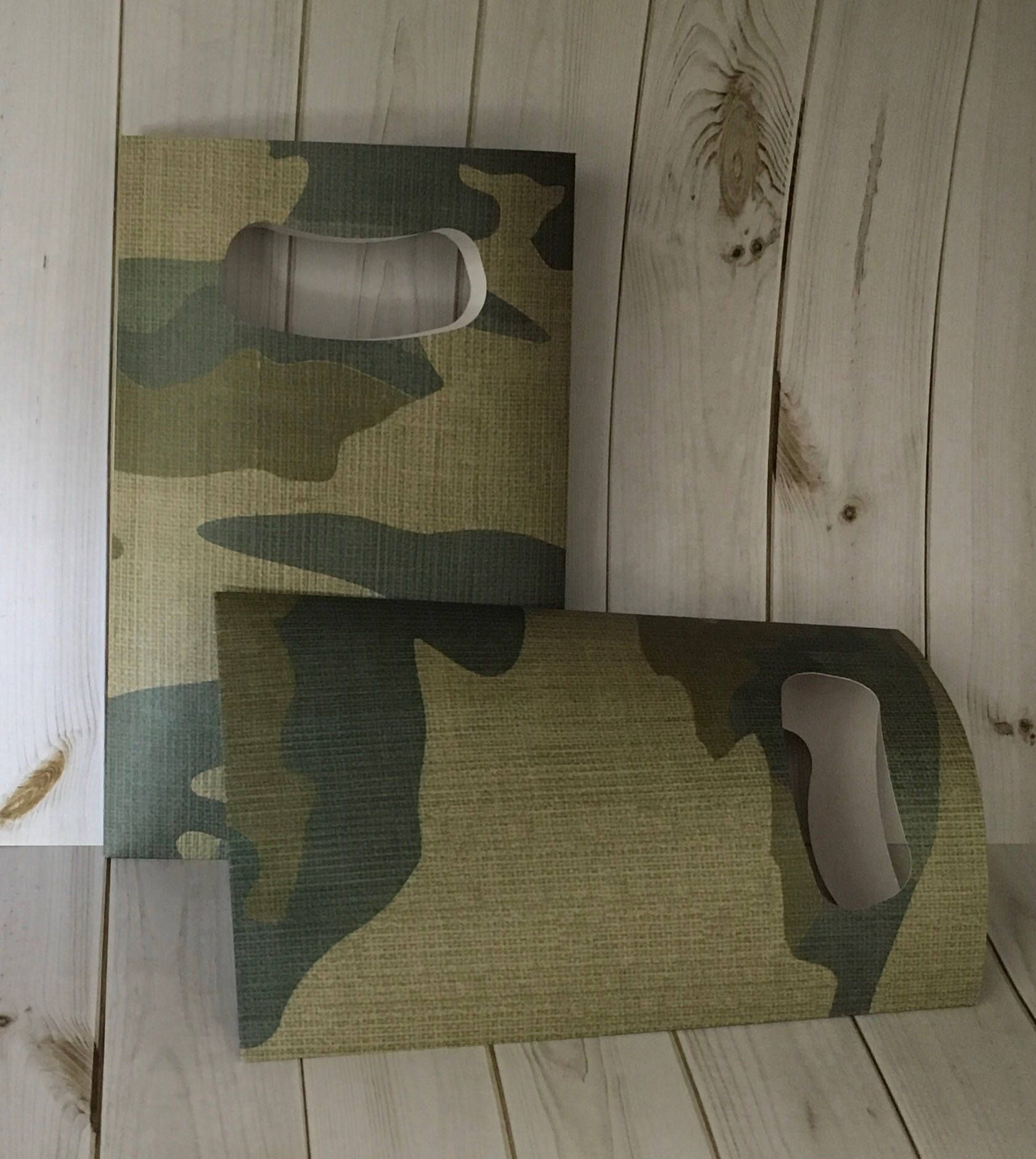 Camouflage Flat Paper Favor Bags With Cut Handles Gift Bag Cookie Candy By Thepapercove On Etsy