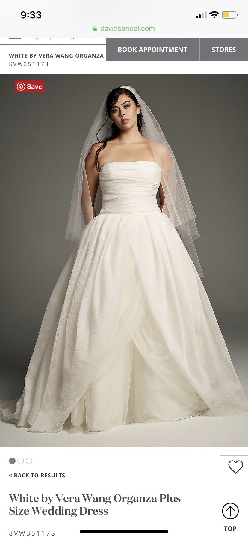 White By Vera Wang Organza Plus Size Wedding Dress 8vw351178 Wedding Dress With Pockets Wedding Dresses Vera Wang Top Wedding Dresses [ 1792 x 828 Pixel ]