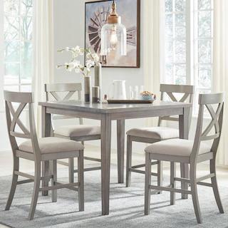 5 Piece Set Dining Sets Nebraska Furniture Mart In 2020 Counter Height Dining Room Tables Grey Dining Tables Grey Dining Room