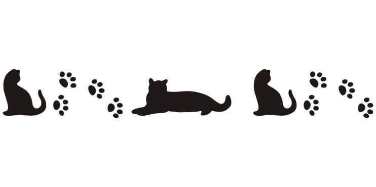 cat paw prints and cats | Dog Print Border - ClipArt Best ...