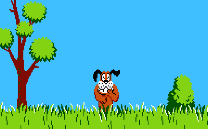 Duck Hunt 8 Bit Nintendo Entertainment System Dog Wallpaper Berlin Almanya Oyunlar