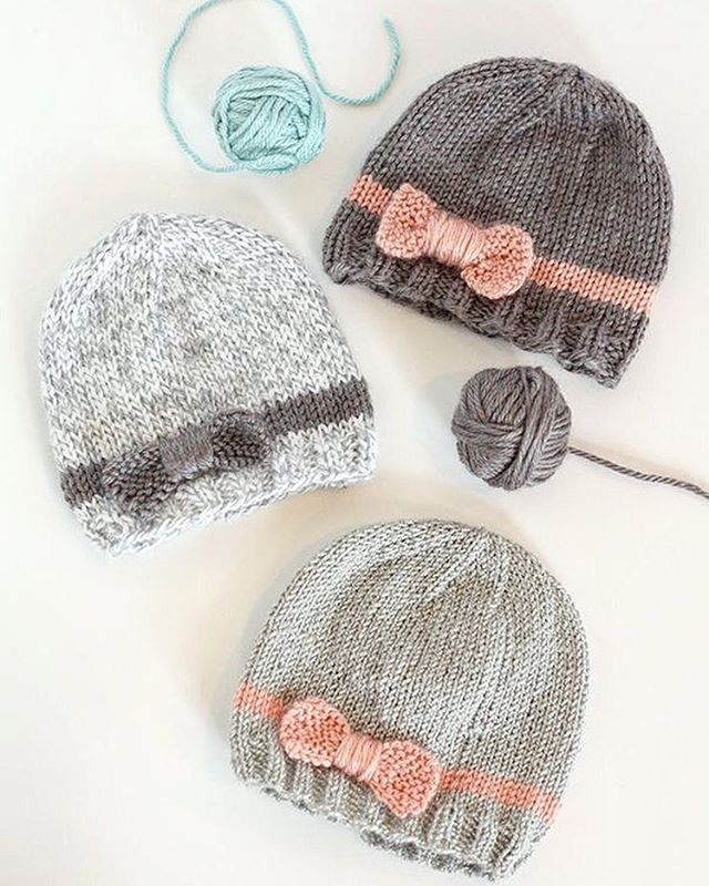 Httplittleredwindow201601knit Bow Baby Hatsml Sapka