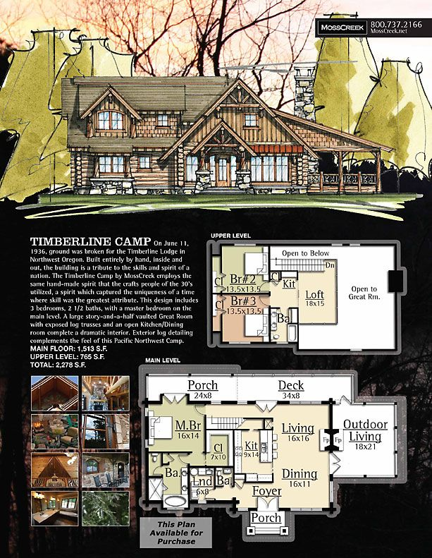 Mosscreek designers of luxury timber frame hybrid and for Luxury timber frame house plans
