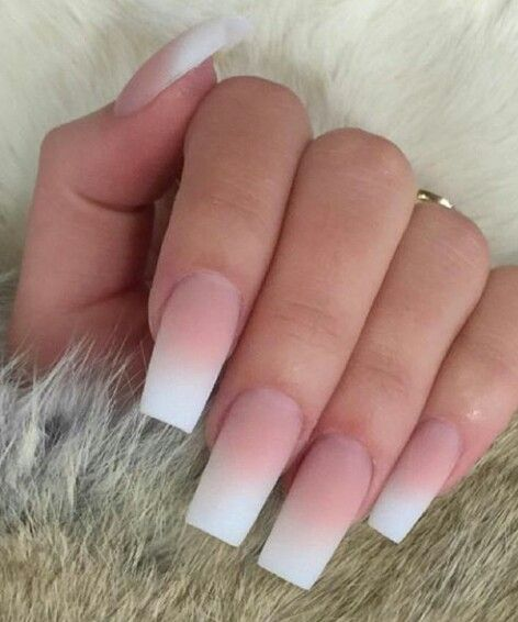 French ombre nails | Nails | Pinterest | Nails, Acrylic ...