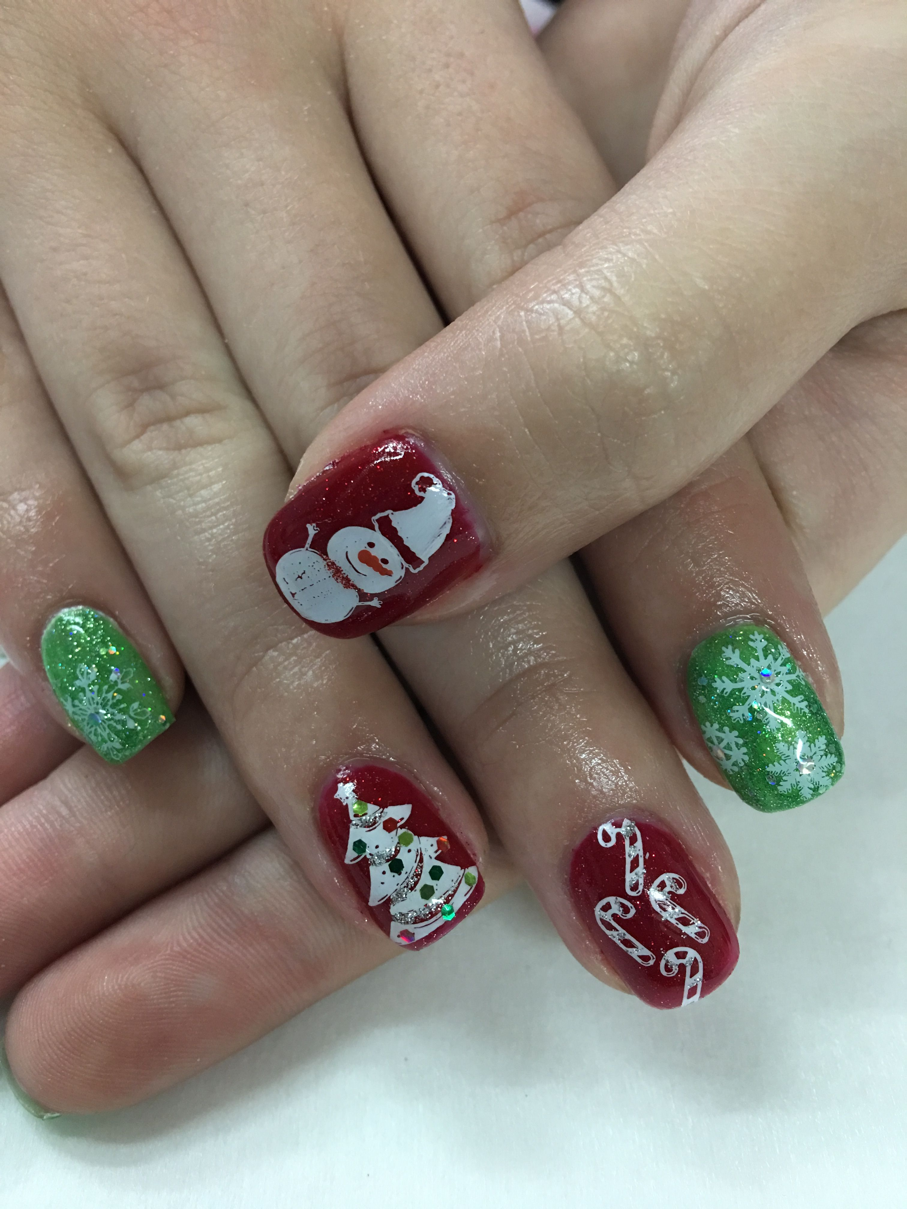 Watch - Nail christmas designs candy cane video