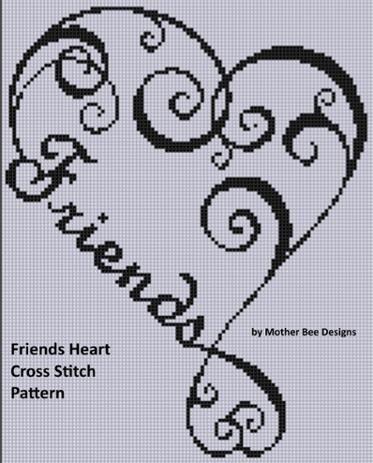 Family Heart 2 Cross Stitch Pattern   Punto de cruz, Puntos y Bordado
