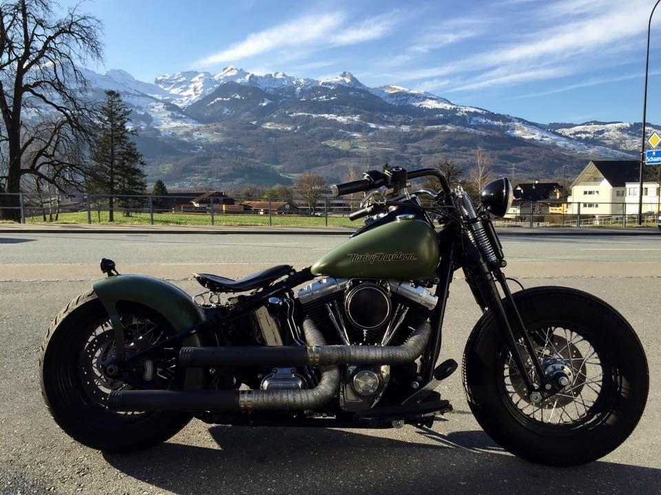 Custom Harley Davidson Crossbones Cross Bones FLSTSB softail