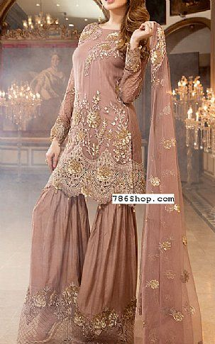0c47651ca7 Tea Pink Chiffon Suit | Buy Embroyal Pakistani Dresses and Clothing online  in USA, UK