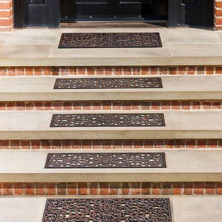 Best Windsor Scroll Antique Copper Rubber Stair Treads Door 400 x 300
