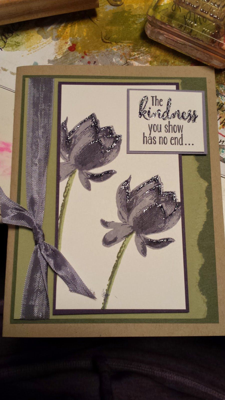 Check out the New Lotus Blossom stamp set from Stampin' Up! Get it for free during Sale A Braiton!