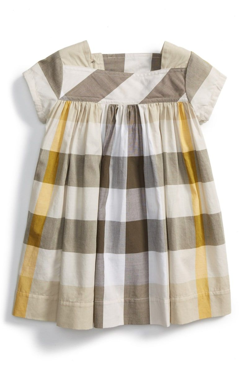 de03c976240 Free shipping and returns on Burberry Button Tab Check Cotton Dress ...