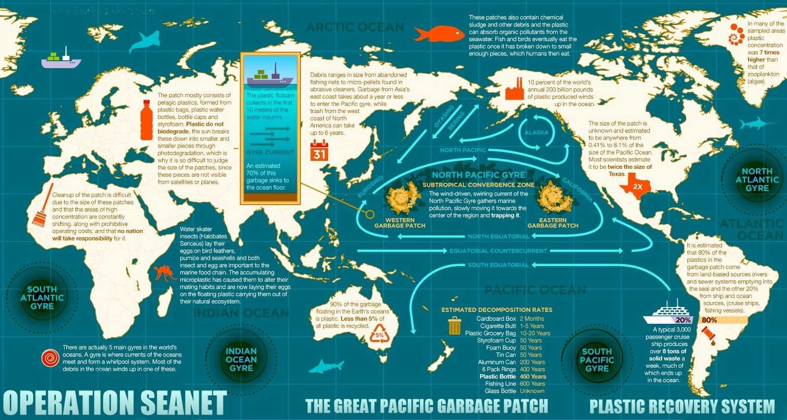 Plasticoceansgreatpacificgarbagepatchworldmap Science And - World map pacific ocean