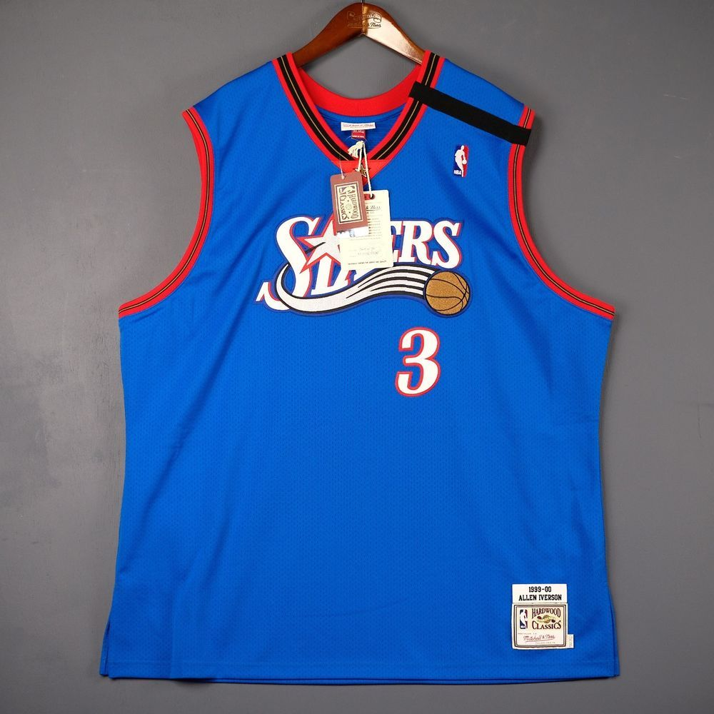 6e750c6d0fa 100% Authentic Mitchell Ness Allen Iverson Sixers 99 00 NBA Jersey Size 56  3XL (eBay Link)
