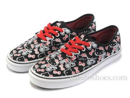 Hello Kitty Vans Classic Slip On Black Red White95