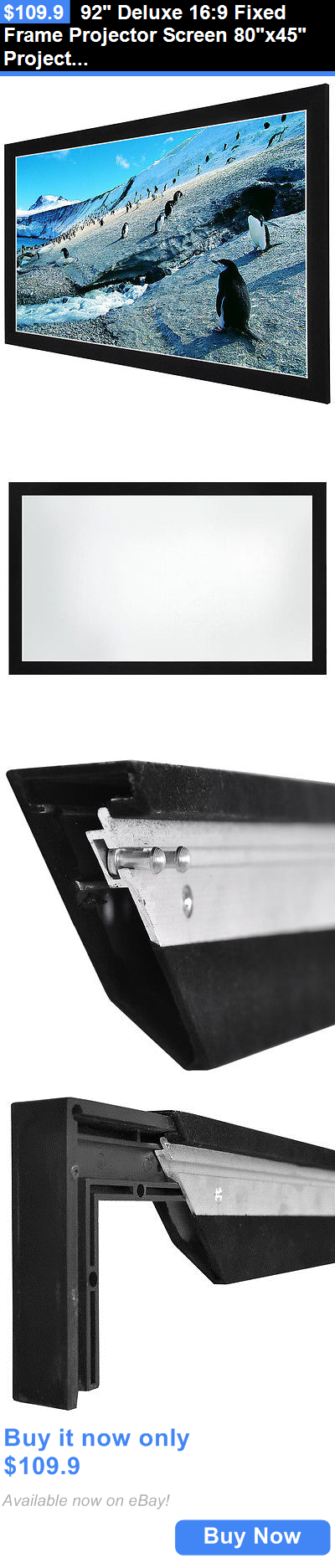 Projection Screens and Material: 92 Deluxe 16:9 Fixed Frame ...
