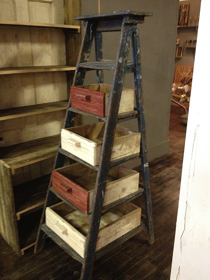 Old Ladder And Drawers Not Sure What You D Use This For