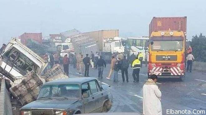 بالصور أسوأ حادث في مصر على طريق مصر الإسكندرية الصحراوى Places To Visit Street View Visiting