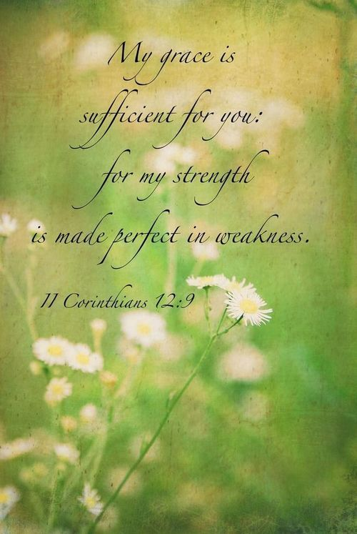 Image result for his grace is sufficient kjv