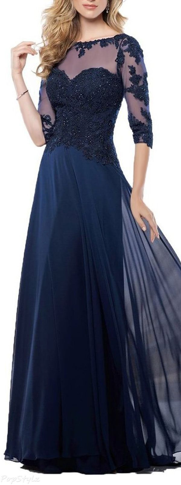 Lovely long lace evening gown clothes for gals pinterest lace