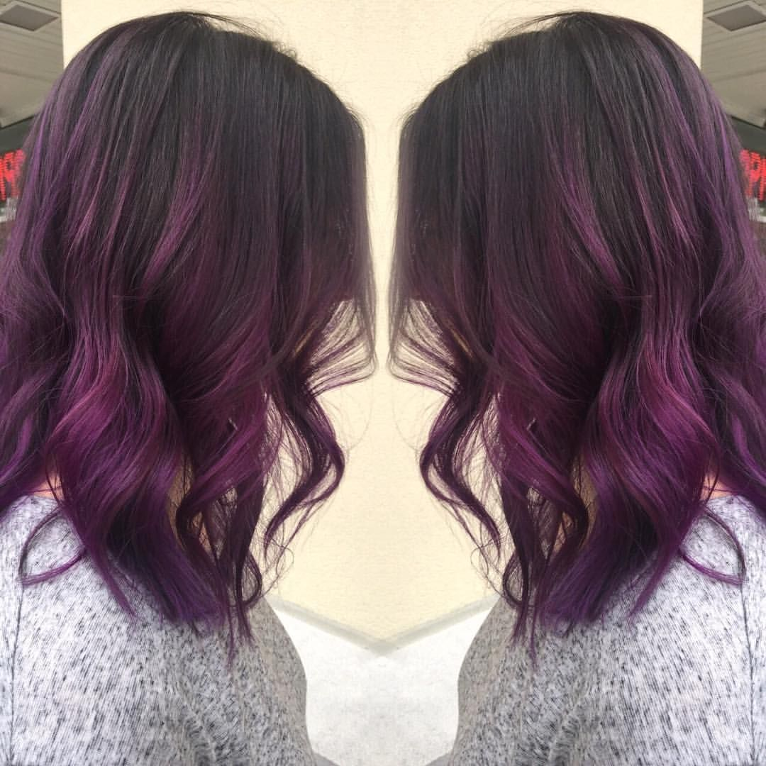 Picture of black and magenta balayage hair - Purple Colormelt By Laurredding_beauty Colormelt Balayage Pravanavivids