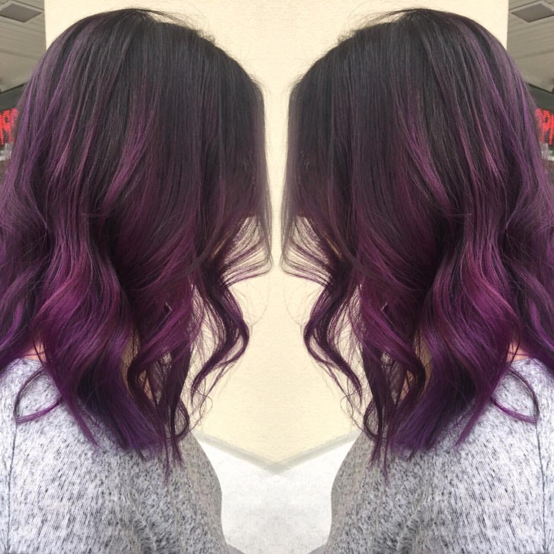 Purple Colormelt by | @laurredding_beauty #colormelt #balayage #pravanavivids…