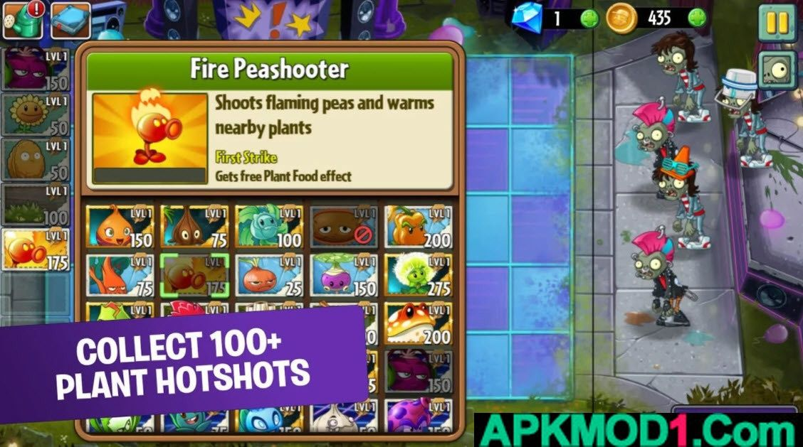 Plants Vs Zombies 2 Apk Mod Coins Gems Obb Data Android Free