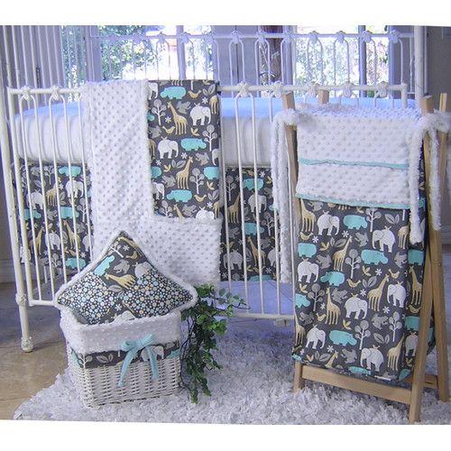 Found It At Wayfair Ellie Patch 4 Piece Crib Bedding Set Elephant Crib Bedding Girl Crib Bedding Sets Crib Bedding Girl