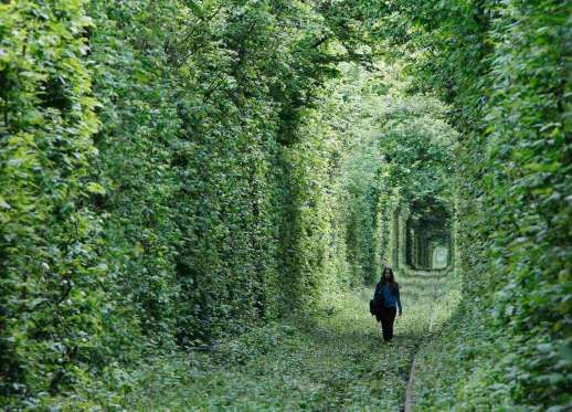 """Tunnel of Love,"" in the small town Kleven, some 350 km off western Kiev, Ukraine."