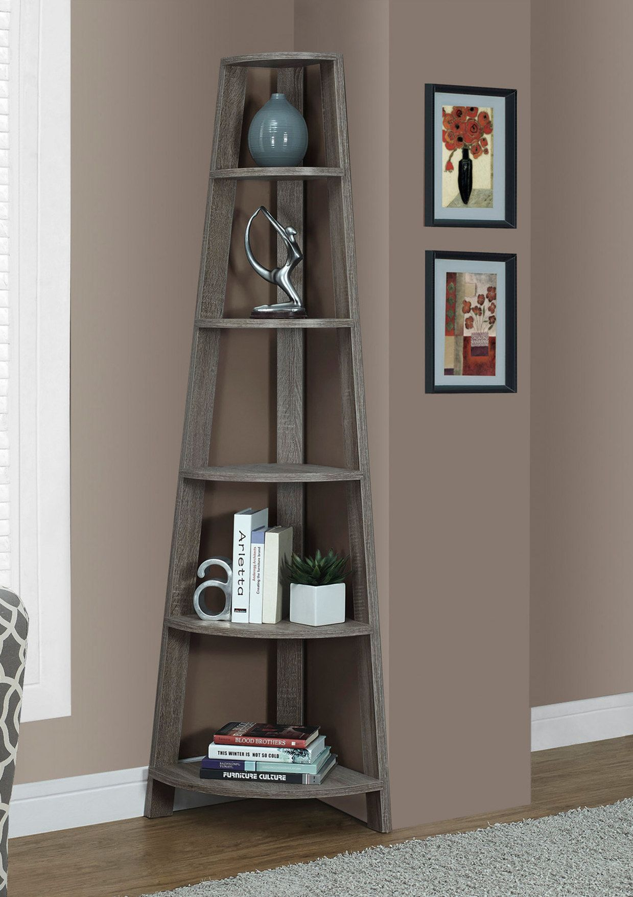 Monarch corner accent etagere stuff pinterest corner shelves