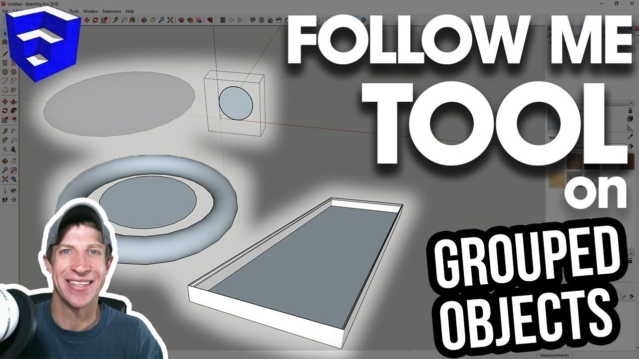 Using The Follow Me Tool In Grouped Objects Sketchup Quick Tips