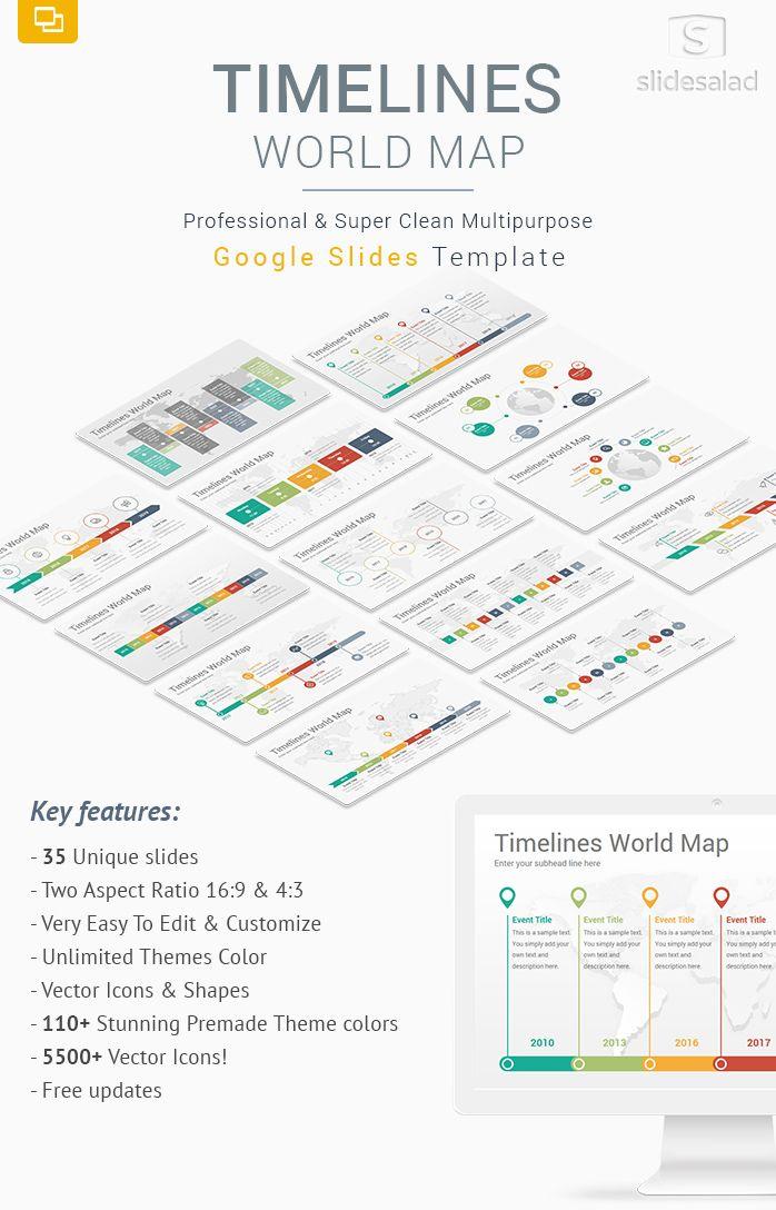 Timelines world map diagrams google slides template google slides timelines world map diagrams google slides template gumiabroncs Gallery