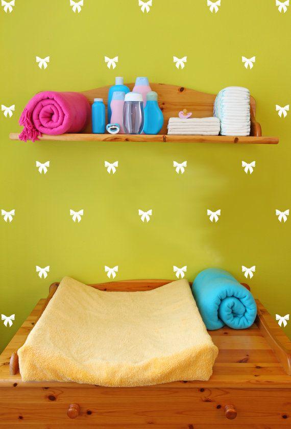 Ribbon Bow Tiny Decal Wall Pattern - Christmas & Holidays - Wall ...