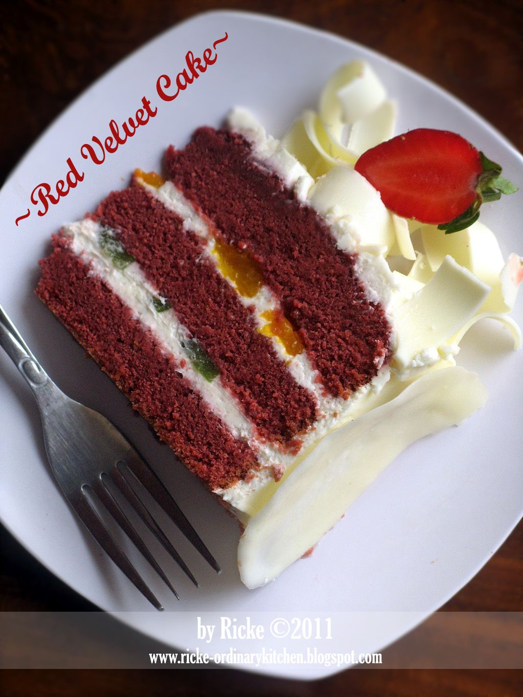 Banyak Yang Penasaran Sama Penampakan Bagian Dalam Rvc Yang Saya Buat Seperti Inilah Penampakannya Sesuai Namanya Makanan Manis Resep Kue Coklat Ide Makanan
