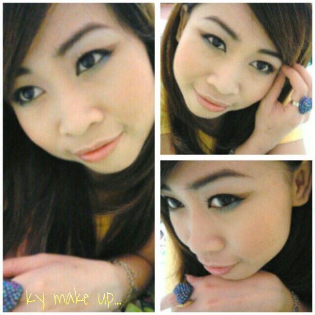 Blue yellow eye make up collage II